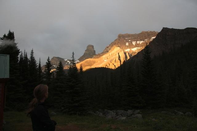 """Alpenglühen"" im Fryatt Valley"