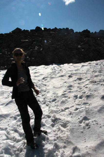 Schneeballschlacht im Sommer, möglich im Fryatt Valley