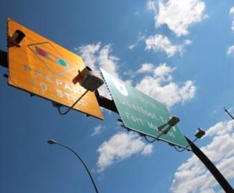 Strassenschild in Calgary