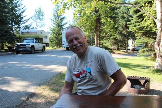 Peter aus der Schweiz ist unser Nachbar am Campground Martha Creek