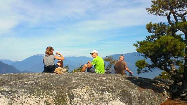 Rick und Jim auf dem Chief in Squamish