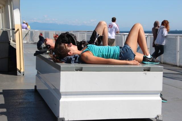 Kreuzfahrtfeeling auf der Überfahrt nach Vancouver