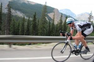 Rennradler bei Jasper