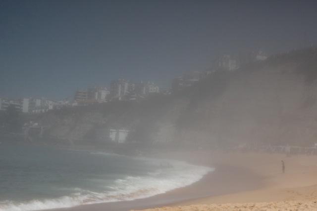 Ericeira verschwindet im Nebel