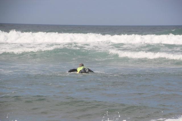 Dirk macht sich auf den Weg hinaus aufs Meer
