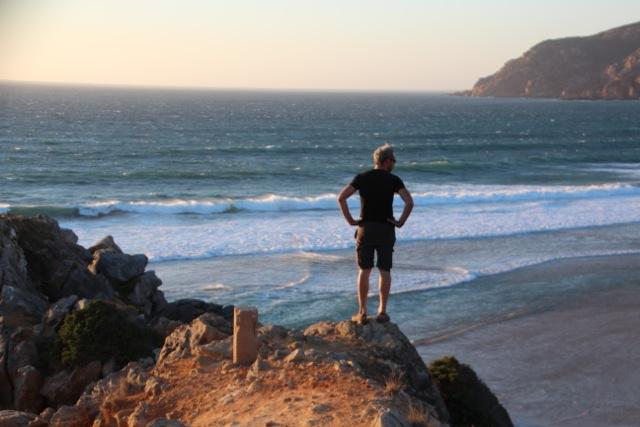 Dirk prüft das Meer