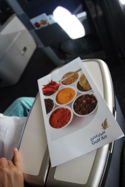 Speise-Karte an Bord
