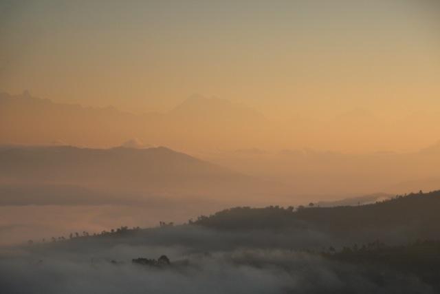 Sonnenuntergang über dem Kathmandu-Tal