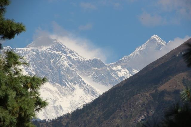 erster Blick auf den Mount Everest