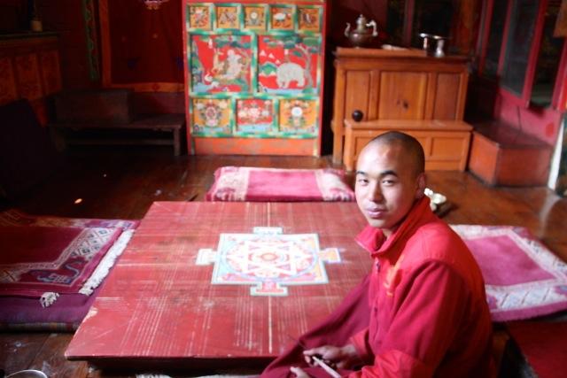 der Mönch und sein Mandala