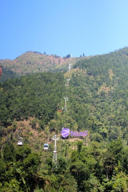 Nepals einzige Seilbahn führt hinauf zum Tempel Mankamana