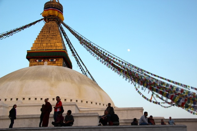 die Stupa in Boudnath