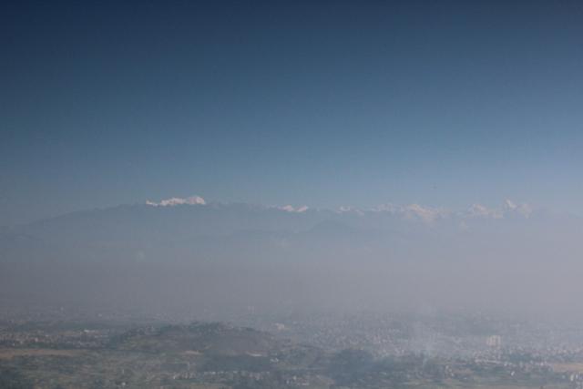 Blick auf das Kathmandu-Tal