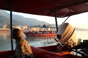 Fahrt über den Ganges