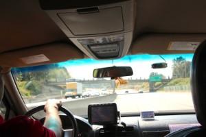 unser Taxi-Fahrer in Vancouver gab uns Geld für das Ashram mit