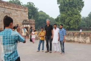 Dirk wurde ständig in Delhi fotografiert