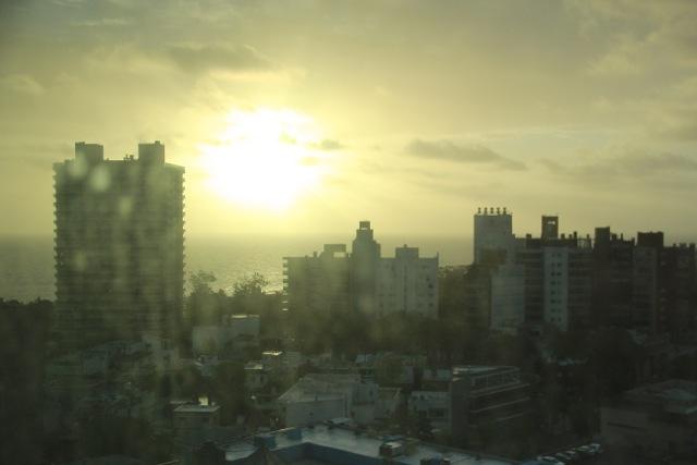 Blick aus dem Sheraton über die Stadt