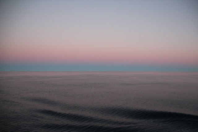 irreale Farben über dem Südatlantik