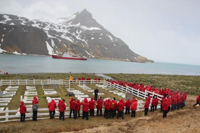 Auf dem Friedhof wurde der Polarforscher Ernest Shackleton beerdigt