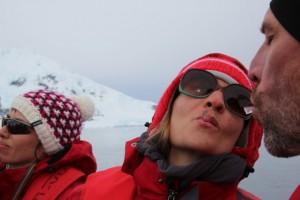Arktisches Eis zum lutschen