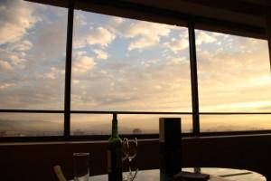 """Blick aus unserem Zimmer im """"Grand Hyatt"""" auf Santiago de Chile"""
