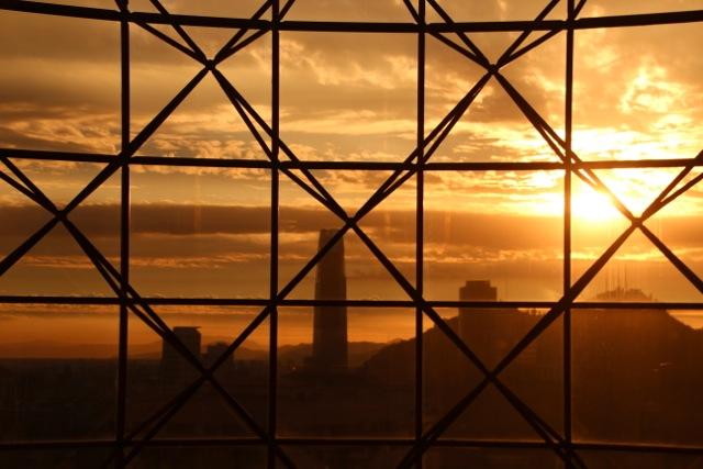 Sonnenuntergang in Santiago de Chile