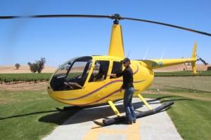 Hubschrauber in gelb