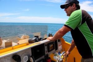 mit dem Speed-Boot fahren wir raus – Delfine suchen
