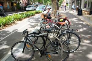 der Fahrrad-Ständer