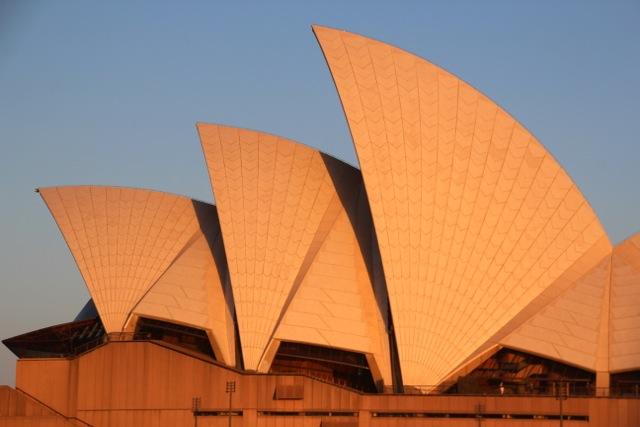 Sydneys Oper im Abendlicht