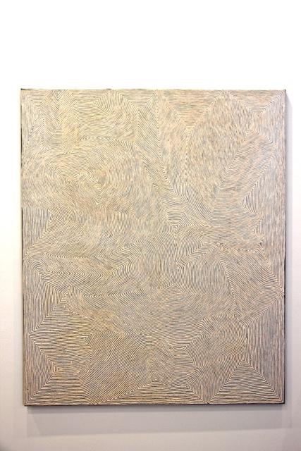 """Von George Tjungurrrayi stimmt das große Gemälde, """"Untitled"""""""