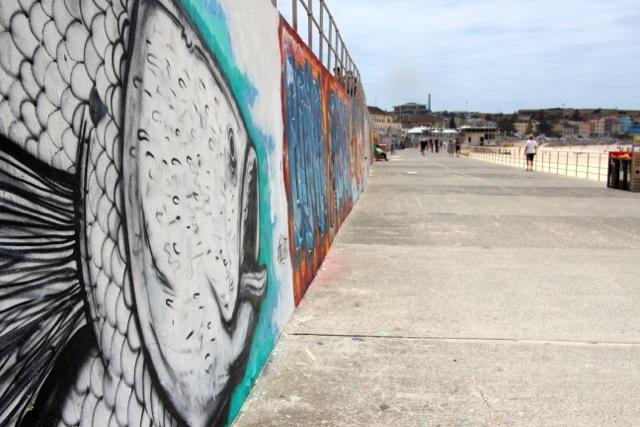 Graffiti am Bondi-Beach