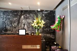 "die Lobby des Hotels ""Park 8"" in Sydney"