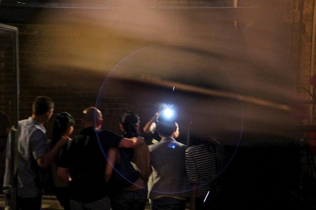 Gruppenfoto mit Blitz