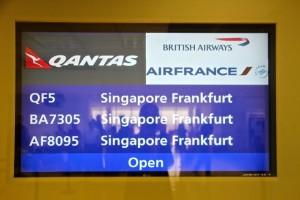knapp 2o Stunden sind es von Sydney nach Frankfurt