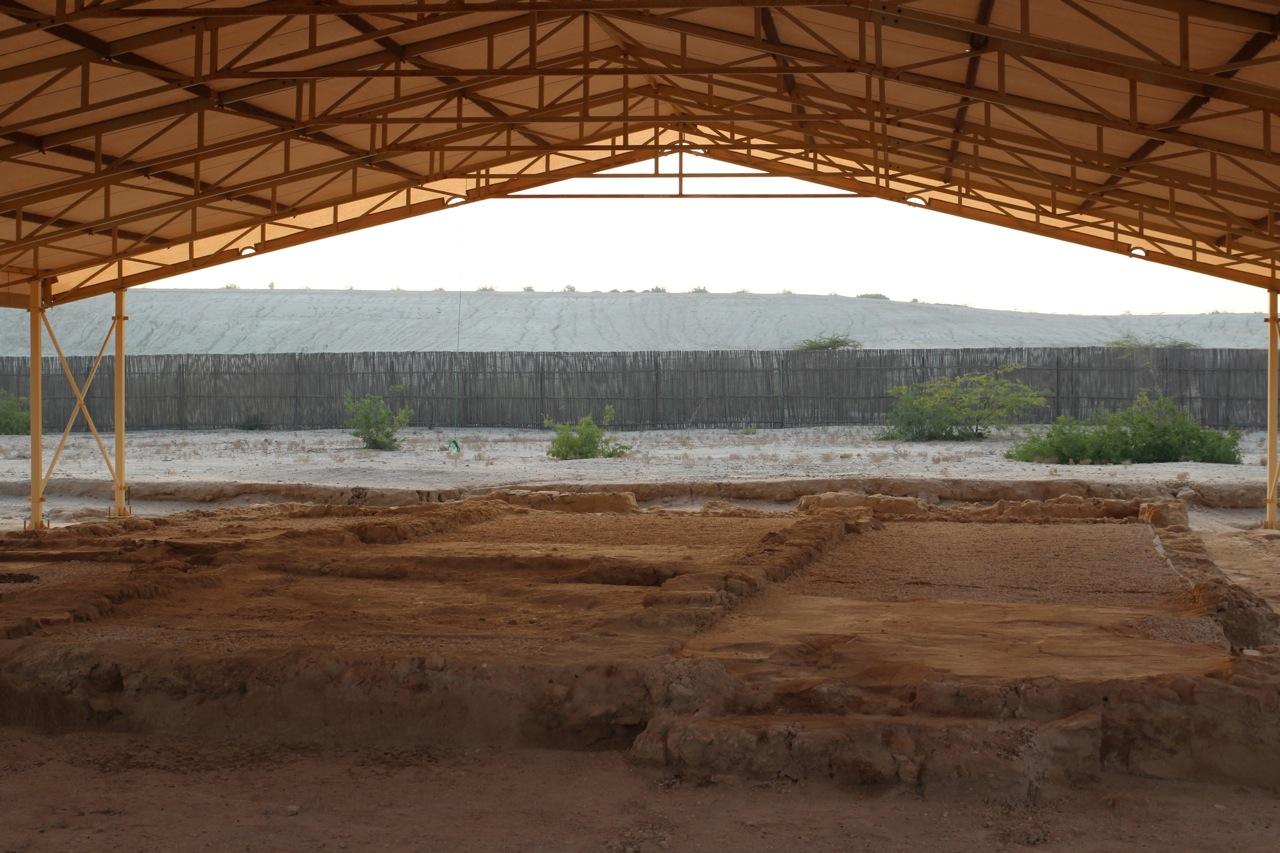 Ruinen der Christliche Stätte auf Sir Bani Yas
