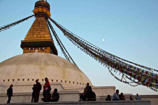 die Stupa in Bodnath