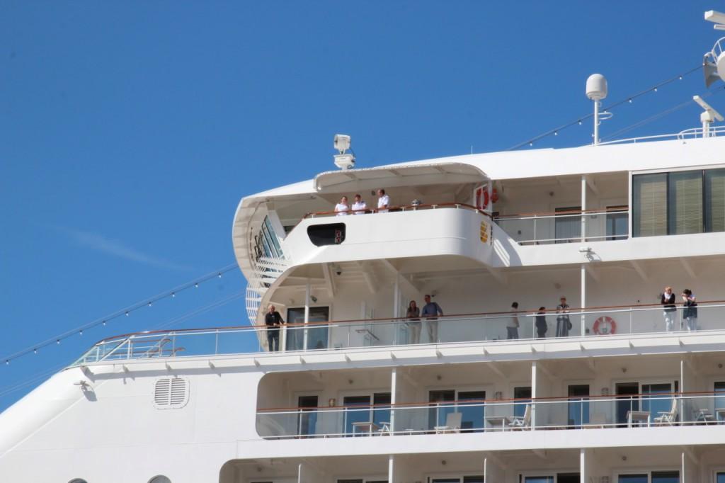 Die MS Europa2 im Hafen von Wismar
