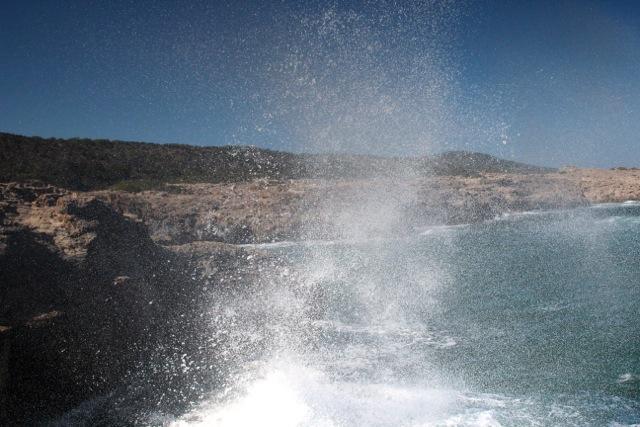 Gischt an der Küste