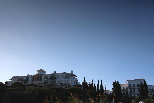 Das Hotel aus der Ferne