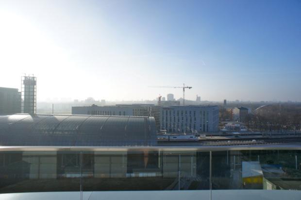 Blick aus dem Motel One am Berliner Hauptbahnhof